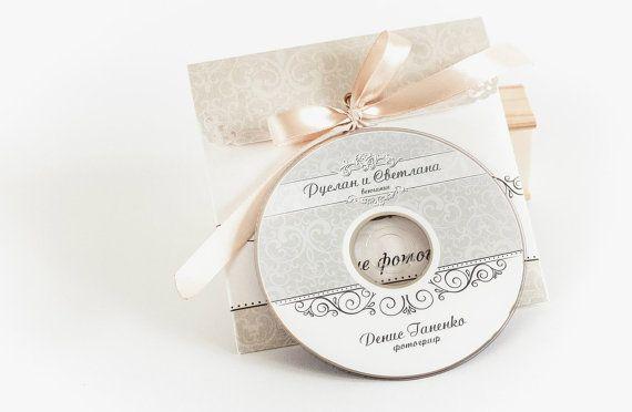 Wedding CD/DVD Label Template vintage patterns от CameraClick, $6.00