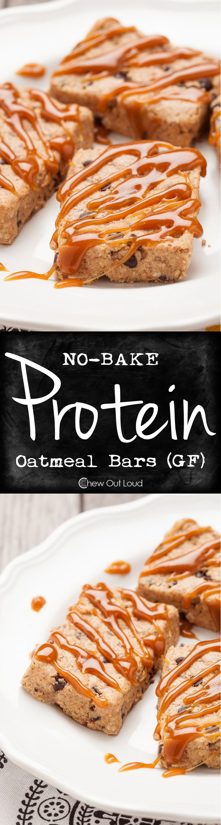 These No-Bake Oatmeal Protein Bars are chewy, soft, and better than store brands. You know exactly what goes in them. Way cheaper, too. #energy #recipe