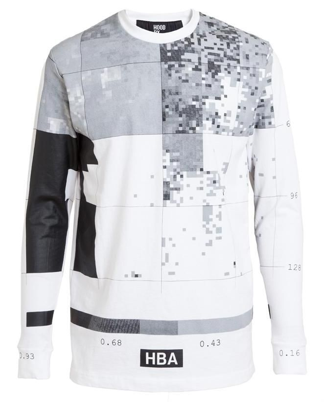 HOOD BY AIR Pixel Printed Cotton Top on shopstyle.co.uk