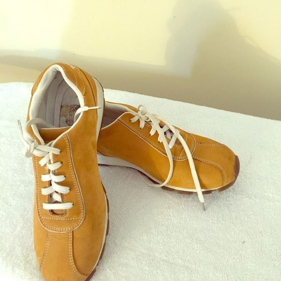 Timberland Shoes Comfortable, well loved, Timberland shoes, flaws/ wear and tear shown in pictures. Timberland Shoes Flats & Loafers
