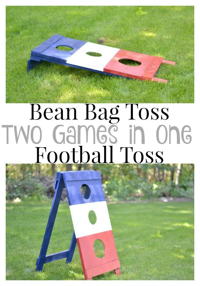 A DIY football toss is a great way to save some money on a fun outdoor game for the warmer months. Sponsored by The Home Depot