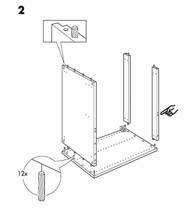 Ikea Akurum Base Cabinet Frame Assembly Instruction Needinstructions Com Ikea Wardrobe Ikea Akurum Ikea Assembly