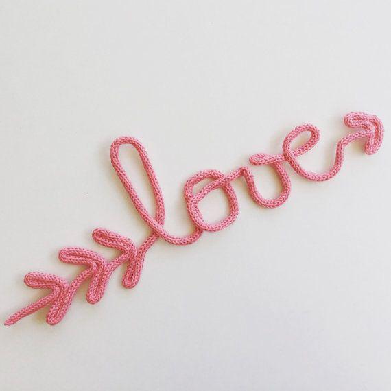 Love en laine love en tricotin Fdp inclus par MumZL sur Etsy