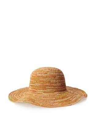 55% OFF Straw Studios Women's Wide Brim Hat, Orange Multi