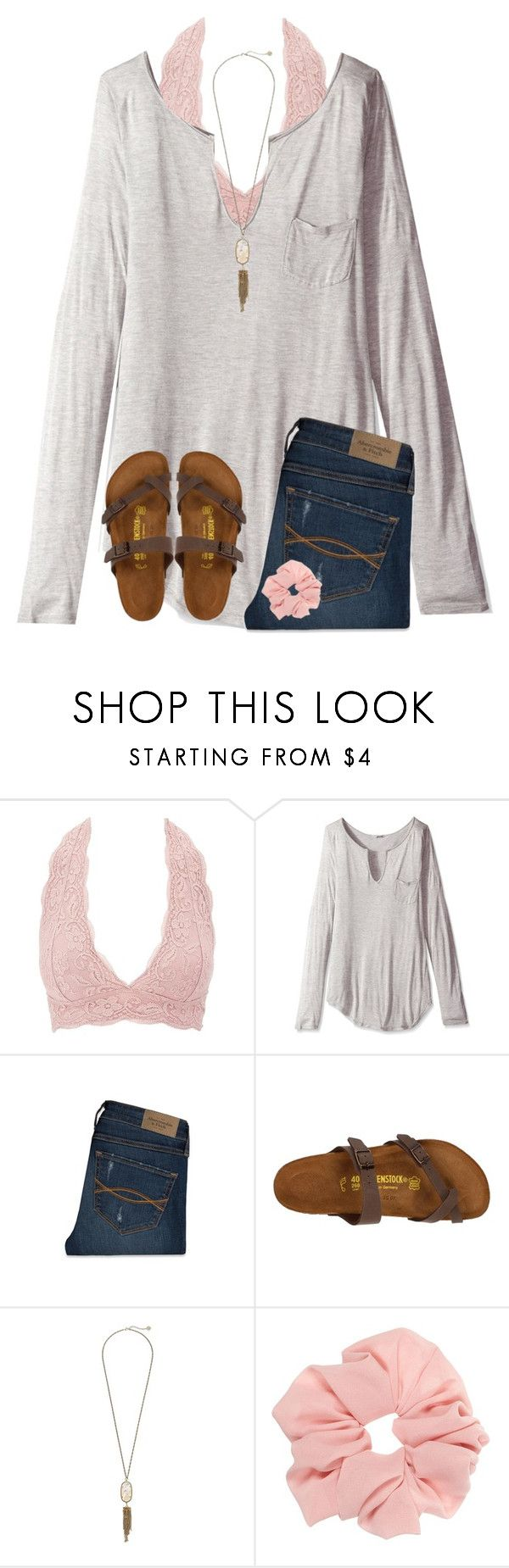 """""""Favorite trends from 2016 contest"""" by ponyboysgirlfriend ❤ liked on Polyvore featuring Charlotte Russe, LAmade, Abercrombie & Fitch, Birkenstock and Kendra Scott"""