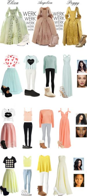 Hamilton by broadwayfangirl on Polyvore featuring Dolce&Gabbana, Funtasma, Hamilton, TheSchuylerSisters, Être Cécile, Chicwish, River Island, Donna Karan, Vero Moda and Elie Saab