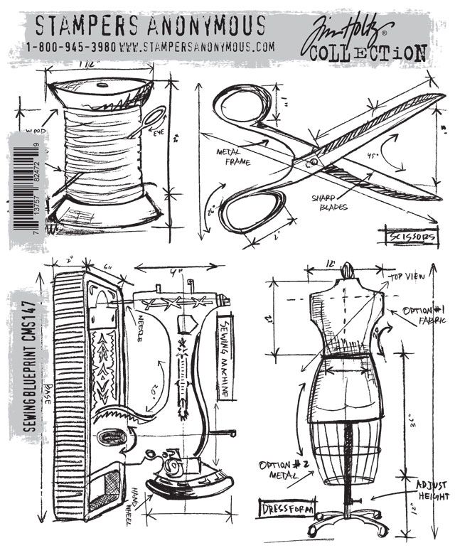 38 best Stampers Anonymus Tim Holtz images on Pinterest Clear - new blueprint hair design