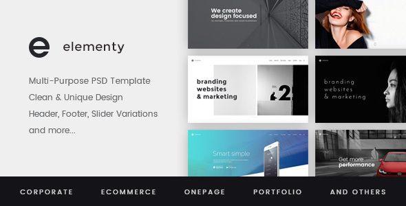 Elementy – Multipurpose PSD Template