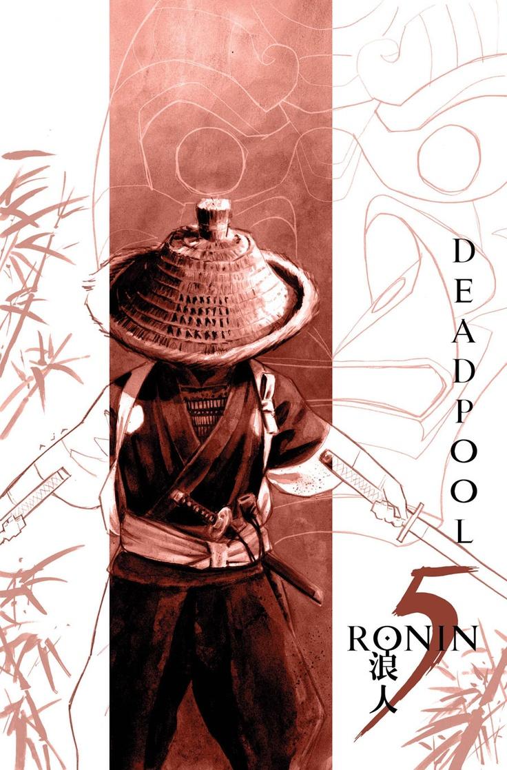 Covers for the 5 Ronin mini-series. Starring Psylocke, Hulk, Wolverine, Deadpool and Punisher Art by David Aja