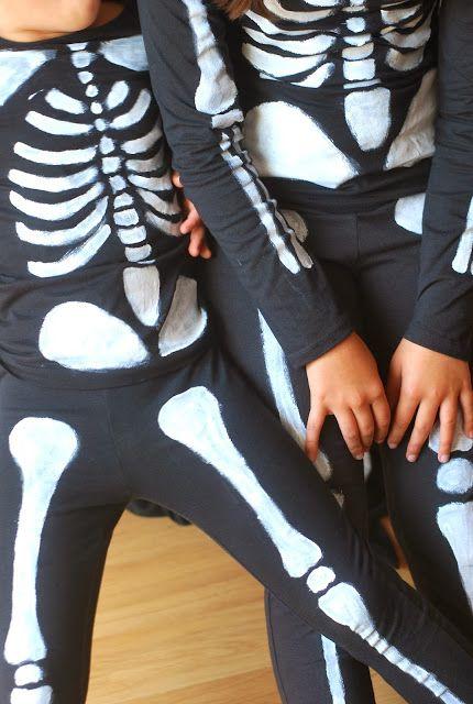 DIY Déguisement squelette (tuto inside quoi... ça faisait longtemps...)