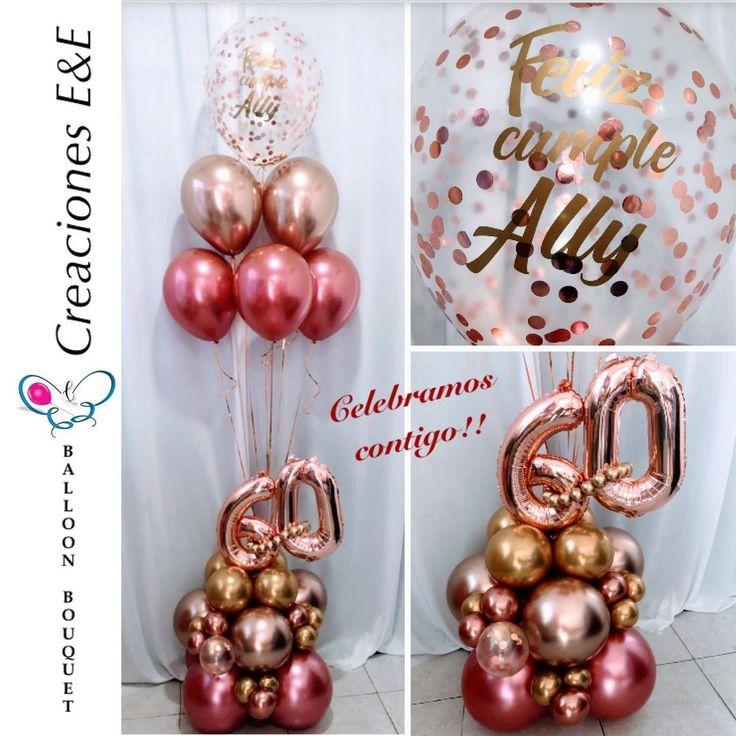 """Creaciones E&E🎈 on Instagram: """"En tus mejores momentos... Creaciones E&E #globocreacionesee #bouquetdeglobos #balloonbouquet #globos #arreglodeglobos #60años…"""""""