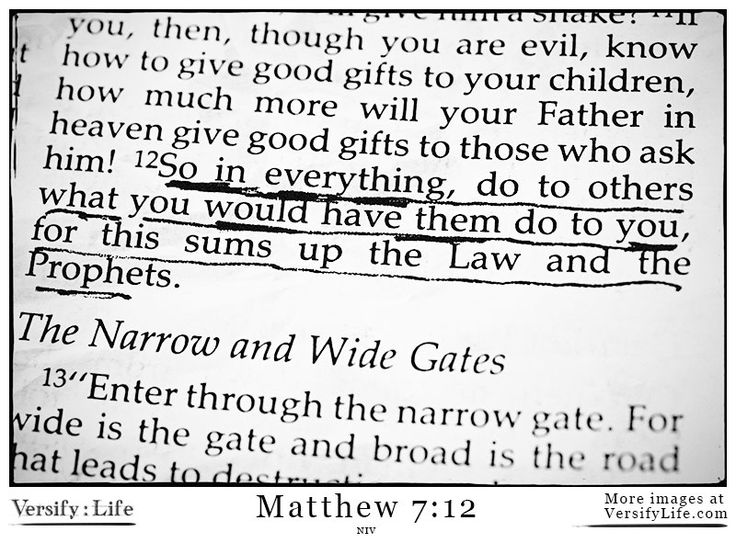 Matthew 7:12 - More Bible verse images at www.versifylife.com