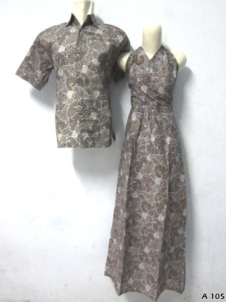 Batik Dress Couple A105 | IDR 135.000 | bahan : Katun | Size M, L, XL | Order : 081333303545
