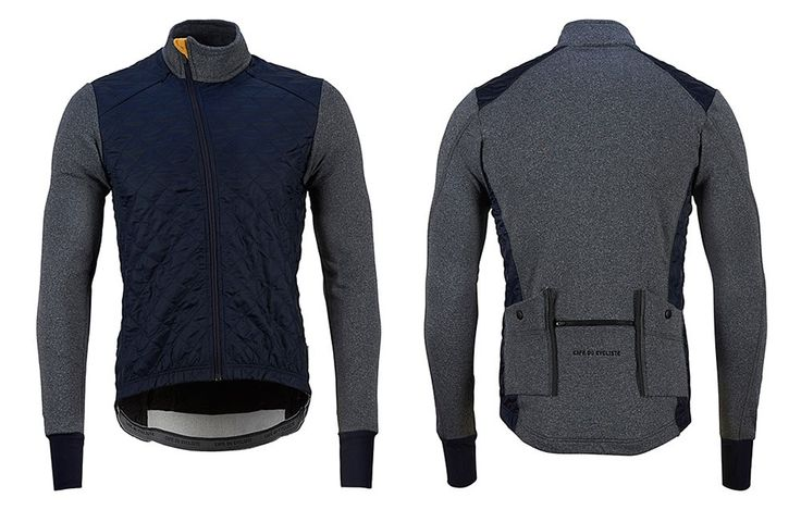 Heidi Winter Cycling Jacket Grey & Navy | Café du Cycliste