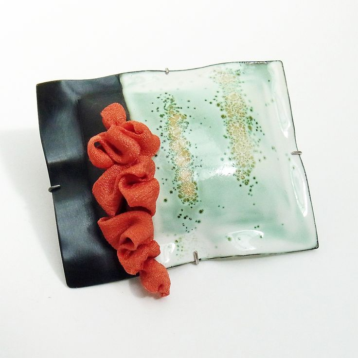 kimono & wabi sabi brooch | Contemporary Brooches by contemporary jewellery designer mariko sumioka