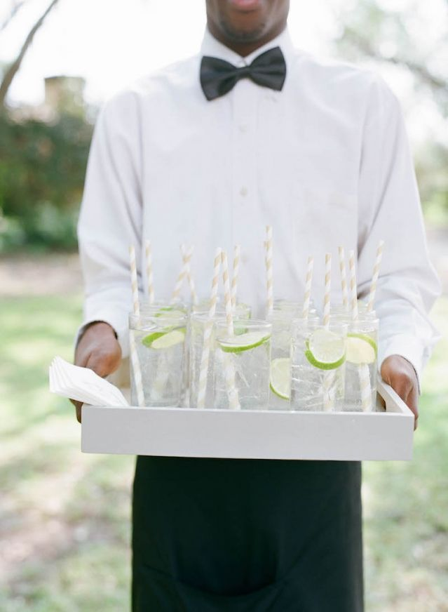 Bar service by PPHG at Marian & Peter's Lowndes Grove wedding | Charleston, South Carolina | Photo by Elizabeth Messina