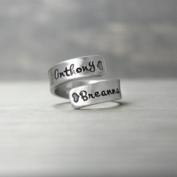Mothers Rings - https://www.etsy.com/listing/257817793/mother-ring-pewter-wrap-ring-mothers-day
