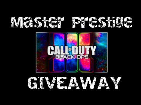 MASTER PRESTIGE GIVEAWAY - Call Of Duty BO3