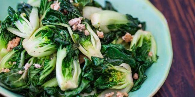 Resep Tumis Bok Choy dan Daging Ayam Giling | AlbarruNews