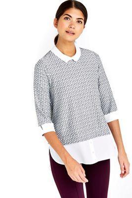 Wallis Petite black and white layered top   Debenhams