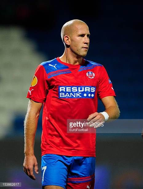 Mattias Lindstrom of Helsingborgs IF in action during the UEFA Europa League group stage match between Helsingborgs IF and FC Twente held on October...