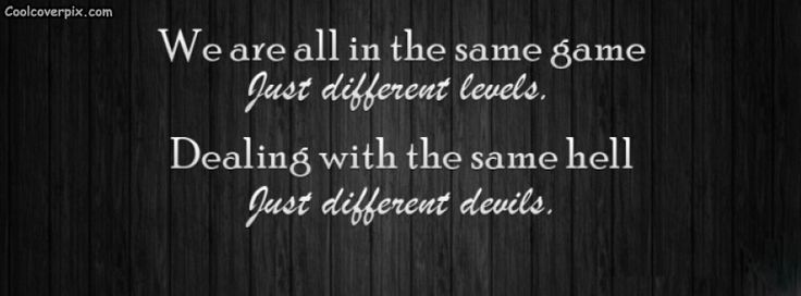Funny quote FB cover for timeline. We are all in the same