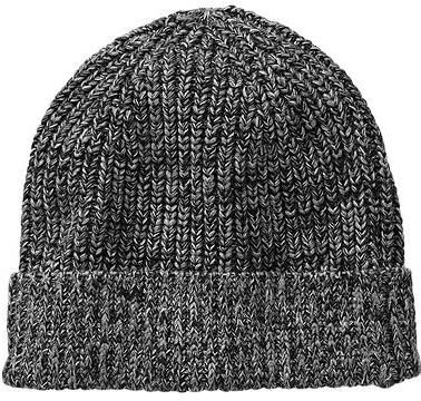 $19, Charcoal Beanie: Gap Marled Ribbed Beanie. Sold by Gap. Click for more info: https://lookastic.com/men/shop_items/131558/redirect