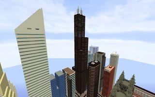 ¡MINECRAFTEATE!: Replica Minecraft del Willis/Sears Tower, Chicago, Estados Unidos.