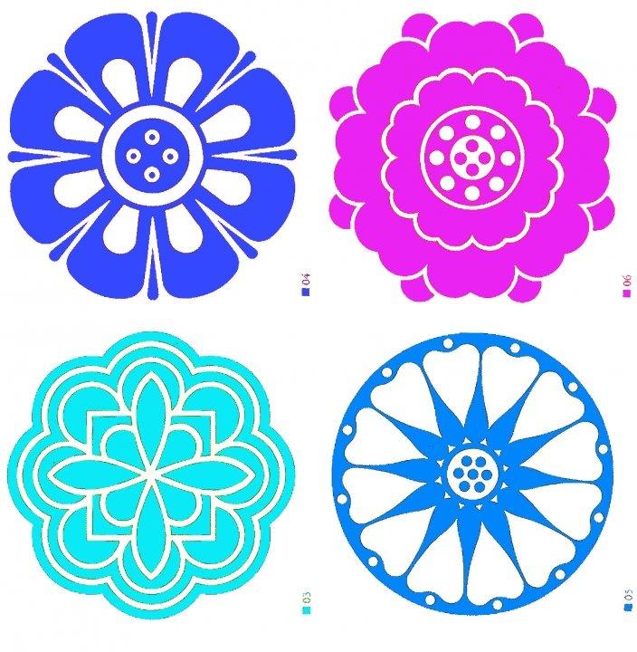 Examples of Korean floral motifs. #KoreanDesign