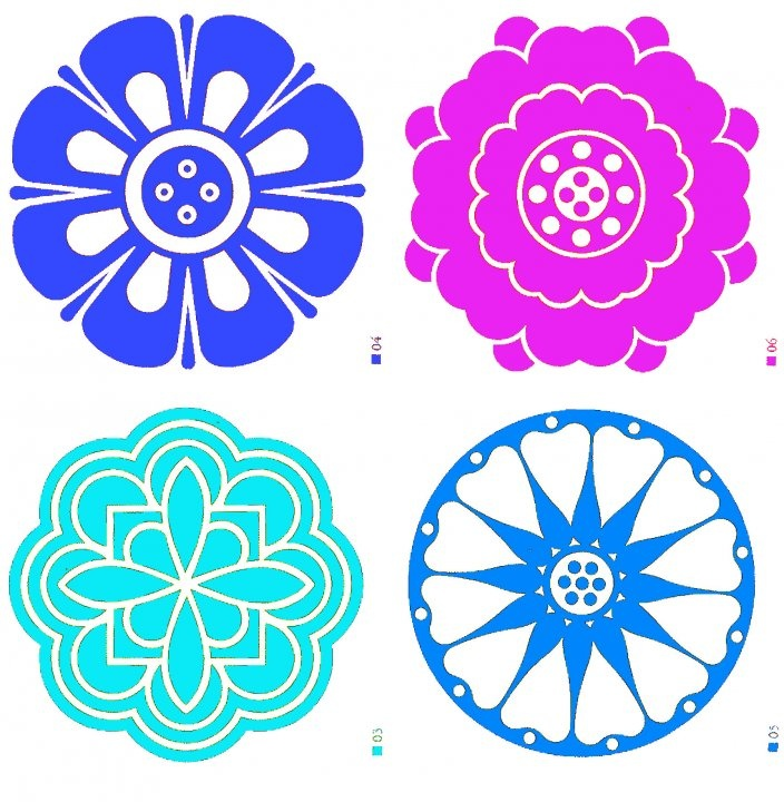 Examples of Korean floral motifs. #KoreanDesign