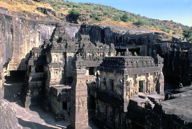 Kailash temple (Ellora) carved directly into the petrified remnants of an ancient lava flow