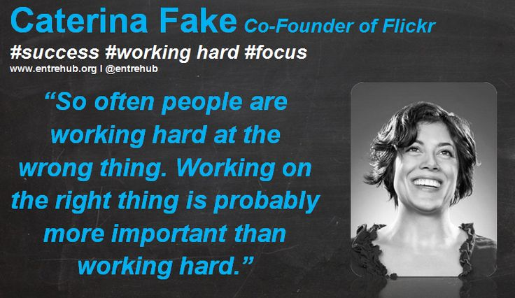 """So often people are working hard at the wrong thing. Working on the right thing is probably more important than working hard."" #caterinafake inspiring #women and #girls into #business by celebrating the International Women's Day theme of #makeithappen. For #news #stories and #inspiration come on over to www.entrehub.org #entrepreneur #entrehub #smallbusiness #news #startup"