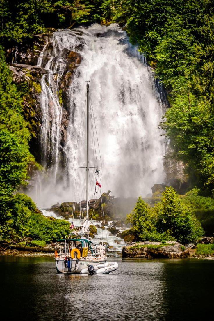 The Chatterbox Falls in the Princess Louisa Inlet