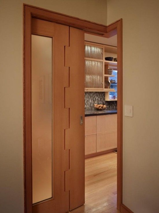 To Screen The Dining Room Finne Designed An L Shaped Pocket Door With Interlocking Detail On Joint