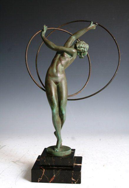 3486: French Art Deco Figure C.1925 Le Verrier : Lot 3486