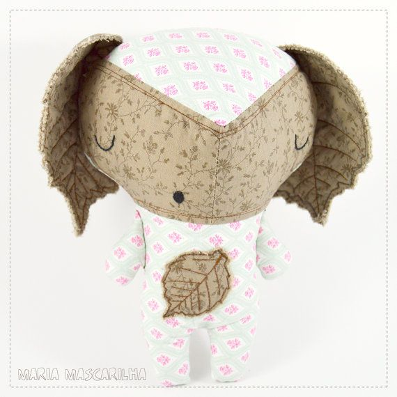 Sleepy Avellana  stuffed toy for children brown by MariaMascarilha