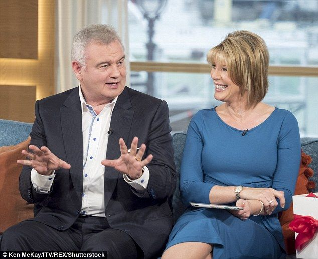 Sitting comfortably: Eamonn Holmes and wife Ruth on This Morning
