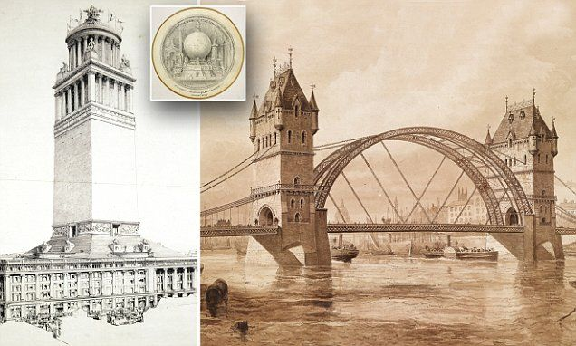 The forgotten blueprints for unbuilt London buildings #DailyMail