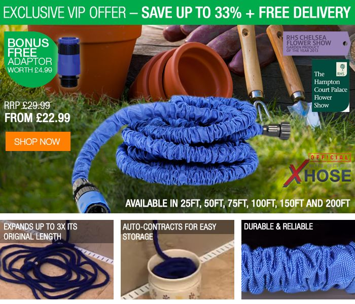 Yay - got it! Mom: Xhose - expanding garden watering hose