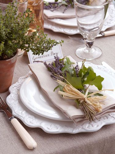 Setting Your Outdoor Table: Whimsical White Plates
