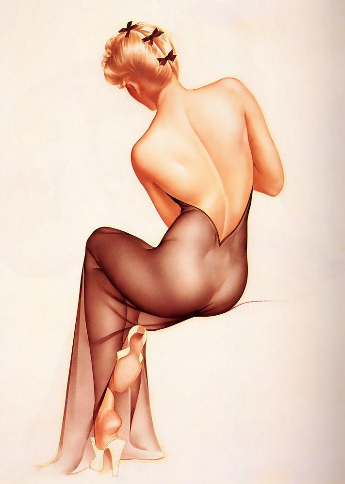 Bring'n Sexy Back...illustration by Alberto Vargas.