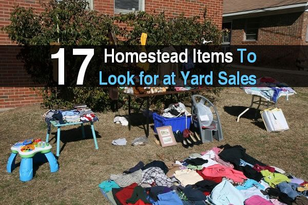 Yard sales and garage sales can be treasure troves for the homesteader. With a little time and effort, you can save a substantial amount of money on quality items for your home and property. Some homeowners either don't see the value of what they own or don't know how to make use of the items they have. Therefore, they are willing to sell their used belongings for far less than they are worth. You may even find new and unused items for sale at a fraction of their original selling price. H...
