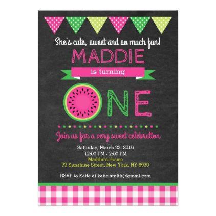 #Watermelon Birthday Invitation - #birthdayinvitation #birthday #party #invitation #cool #invitations