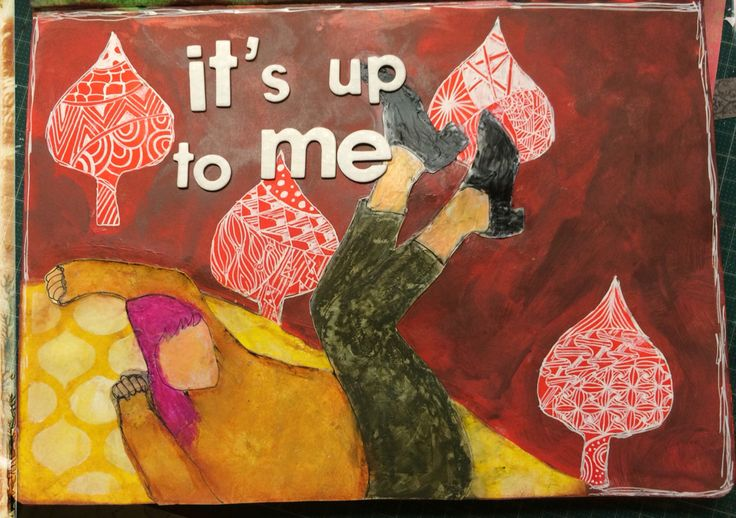 Dylusions paint with zentangle art journal page