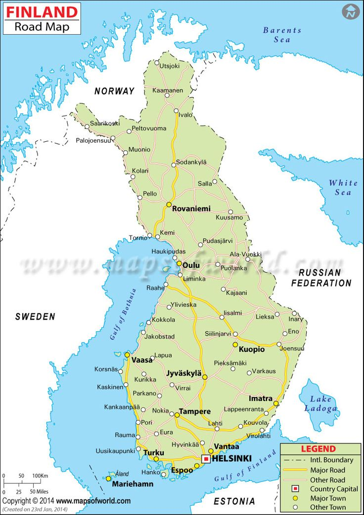 map of finland in - photo #4
