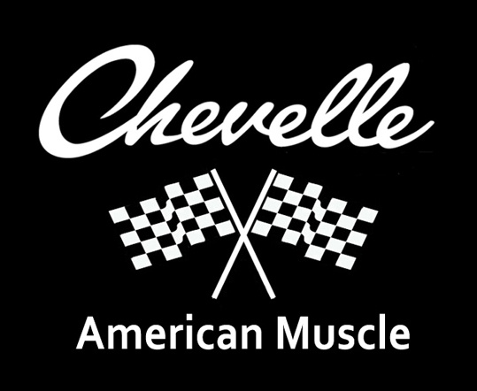 Hot Rod Gearhead Chevy Chevelle Car Logo On Front T Shirt M