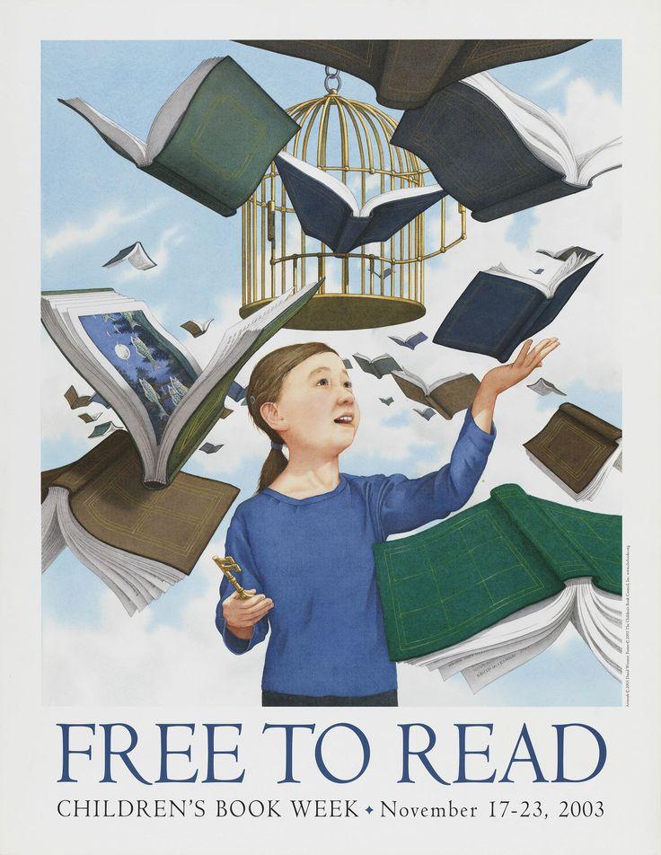 Official Children's Book Week poster, 2003, David Wiesner (B. 1956)