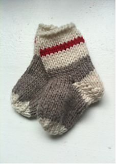 Get to Work! Baby Socks by Laura Sapergia