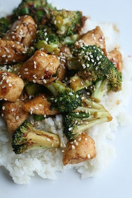 chicken and broccoliBrown Rice, Broccoli Recipe, Sesame Chicken, Asian Chicken, Chinese Chicken, Chine Chicken, Chicken Broccoli, Dinner Tonight, Chicken Breast