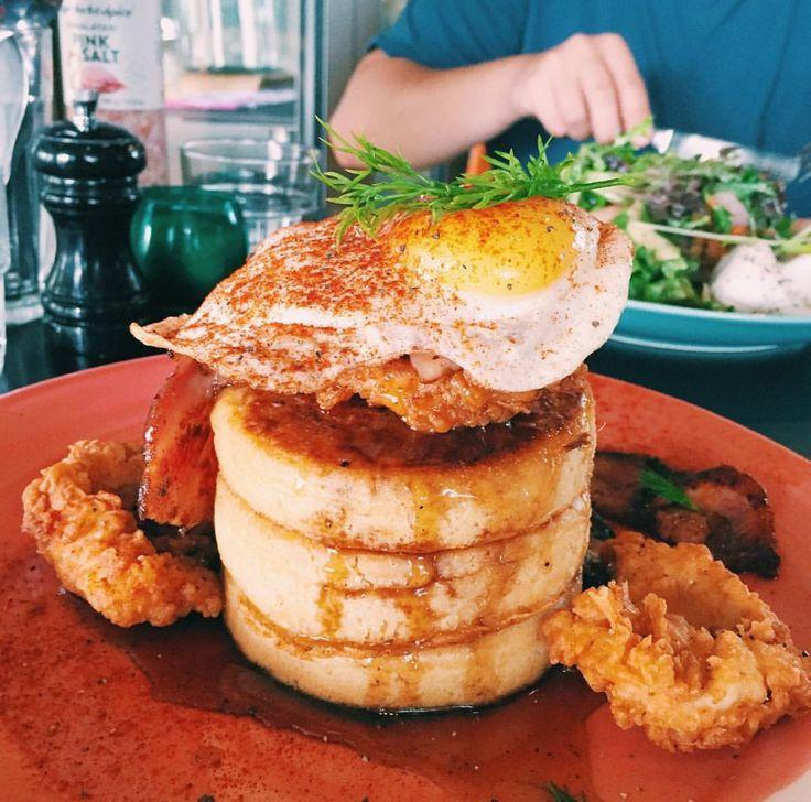 Buttermilk fried chicken crumpets at @AlimentCafe!  #foodporn #food #Perth #wa #nomnom